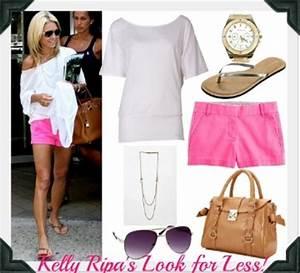 Kelly Ripa neon pink shorts Style
