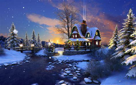 Screenshots For White Christmas 3d Screensaver 3