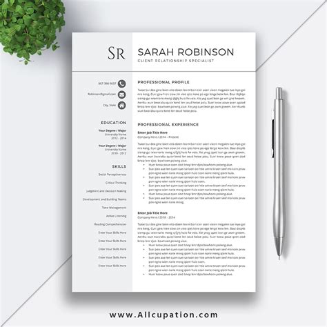 How To Write A Professional Cv Sles by Professional Resume Template Cv Template Cover Letter