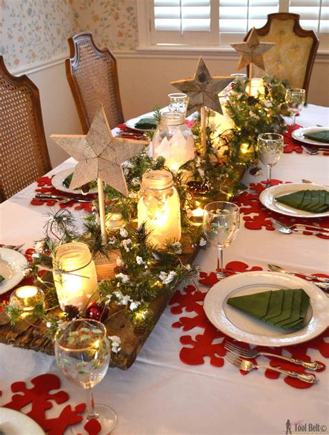 winter wonderland christmas tablescape  tool belt