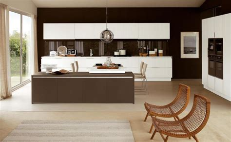 cuisine blanche et marron stunning peinture mur cuisine credence marron contemporary