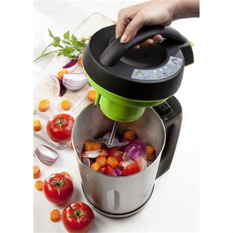 cuisiner avec une bouilloire mixeur à soupe trenta domo