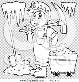 Cave Miner Clipart Outlined Visekart Clip sketch template