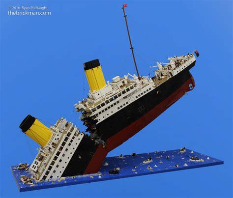 Lego Ship Sinking 1 sinking of titanic recreated in 120 000 lego build
