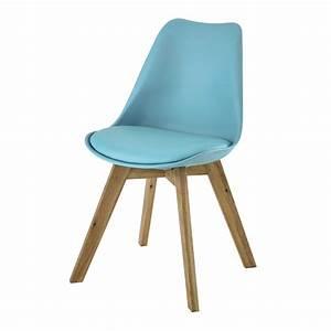 Housse Chaise Scandinave : chaise scandinave bleue ice maisons du monde ~ Teatrodelosmanantiales.com Idées de Décoration
