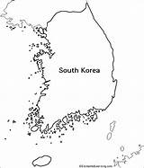 Korea Map Coloring Outline Korean Enchantedlearning Activity Research Country Maps Asia Draw Activities Continent Geography Learning Blank Printable Flag Label sketch template