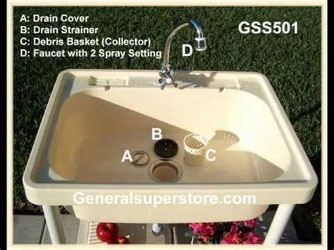 how to remove a kitchen sink faucet gss501 portable outdoor sink