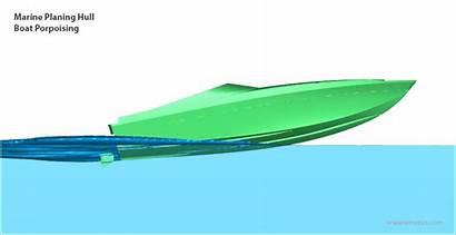 Hull Planing Boat Surface Simulation Multiphase Porpoising