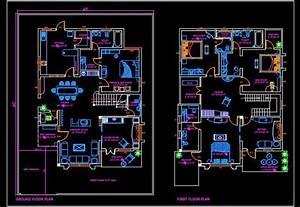 Duplex House  45 U0026 39 X60 U0026 39    Autocad House Plan Drawing Free Download
