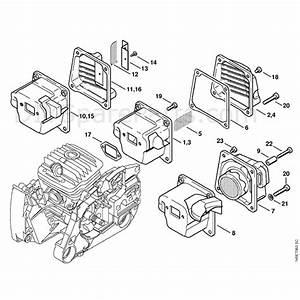 Stihl Ms 460 Chainsaw  Ms460 Rz Magnum  Parts Diagram  Muffler