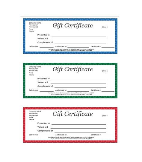 Gift Certificate Template Free 31 Free Gift Certificate Templates Template Lab