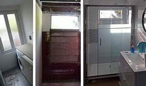 Fenetre Dans Douche : avant apr s r novation d une petite salle de bain en longueur installer une douche ~ Melissatoandfro.com Idées de Décoration