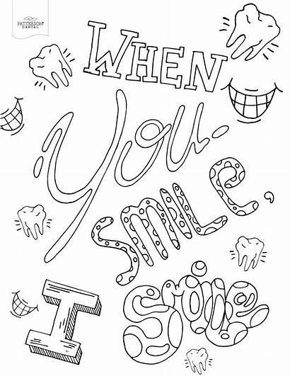 Coloring Pages Smile Adult Colouring Printable Offthecusp