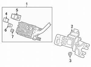 Gmc Terrain Fuse And Relay Center Bracket  Rear