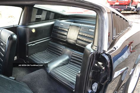mustang fastback solid deep black paint pony interior