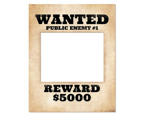 free wanted poster template 20 free wanted poster templates to sle templates