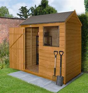 6x4, Forest, Reverse, Apex, Overlap, Wooden, Shed, Base, Included