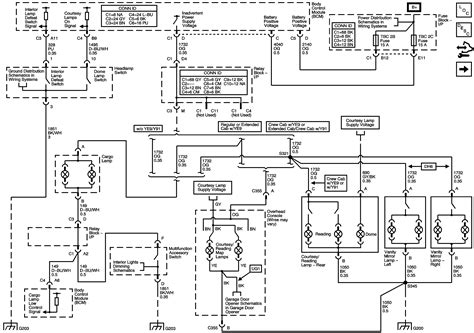 2005 Chevy 2500hd Wiring Diagram by What Are The Color Wires That Go In To The Cargo Light