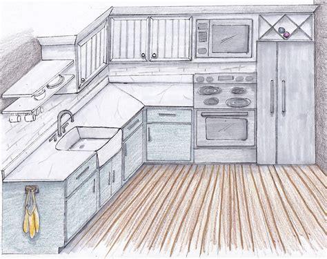 Kuche Zeichnung by Kitchen Catherine Design