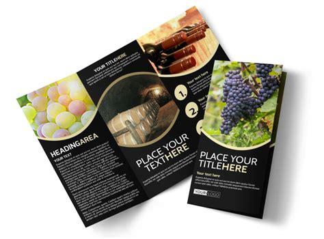 winery wine making brochure template mycreativeshop