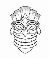 Coloring Pages Totem Pole Tiki Printable Getcolorings sketch template