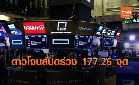 ดาวโจนส์ ปิดลบ 177.26 จุด หุ้นแบงก์ถ่วงตลาด