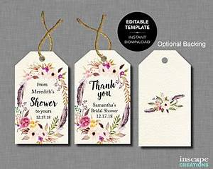 inscape bridal on etsy handmade hunt With bridal shower favor tags template