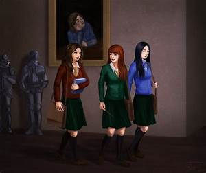 Hermione, Ginny and Cho strolling by jtine on DeviantArt