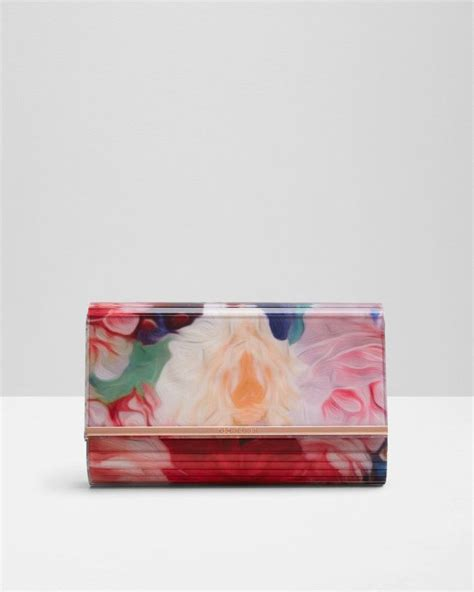 floral swirl resin clutch bag fuchsia bags ted baker