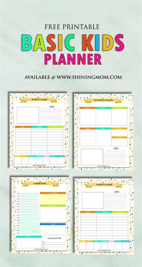 related image kids planner planner printables