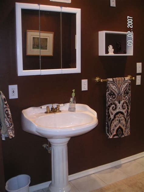 chocolate brown bathroom ideas chocolate brown bathroom build a bathroom off a bedroom downstairs and there arent any windows