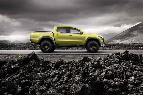 mercedes pickup mercedes benz previews x class pickup truck with two concepts