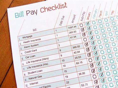 bill pay checklist editable   printable lab