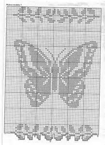 Rideaux Crochet Filet Gratuit by Rideaux Filet Papillon Toutes Les Grilles Com Grilles