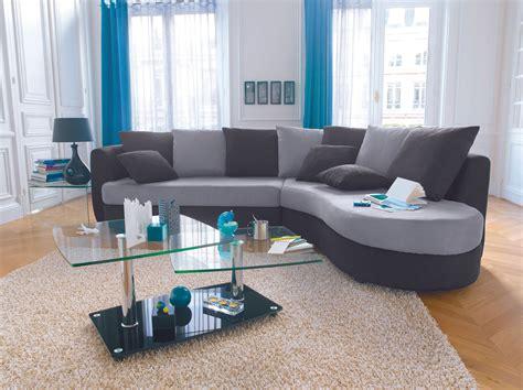 conforama canapé d angle cuir canapé d 39 angle noir et gris