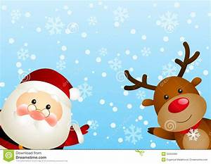 Santa, With, Deer, Stock, Vector, Illustration, Of, Person