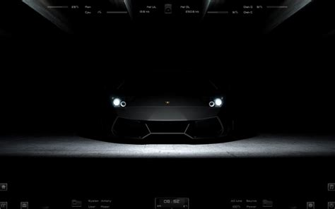 lamborghini black windows rainmeter theme