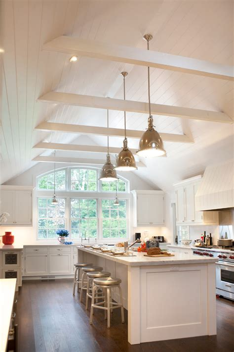 vaulted ceiling lighting kitchen traditional with