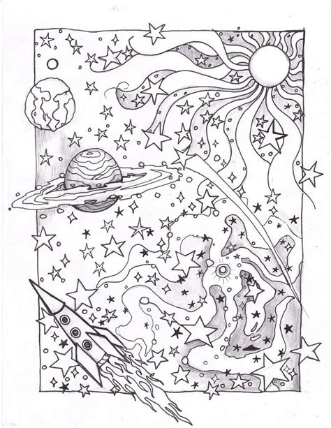 detailed space coloring pages coloring space page