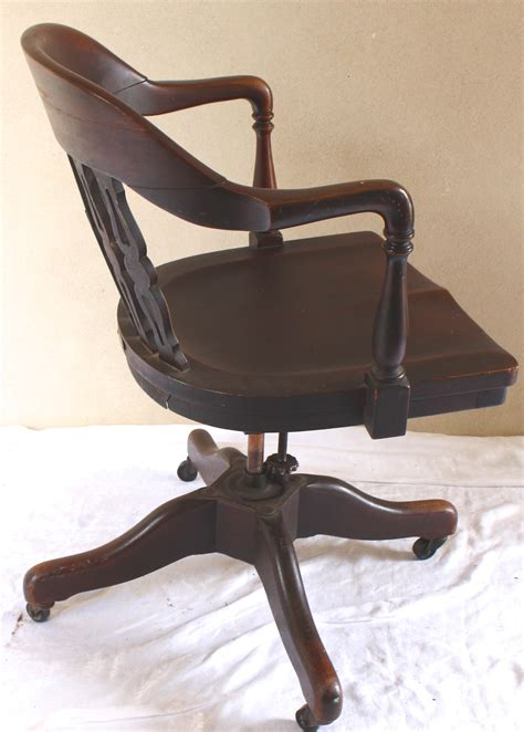 antique rotating swivel desk chair vintage american home