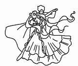 Coloring Couple Dancing Deviantart sketch template