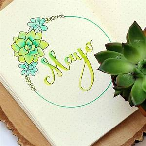 11 gorgeous may bullet journal cover page ideas to inspire you