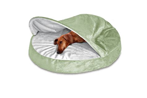 furhaven microvelvet snuggery orthopedic dog cave bed pet