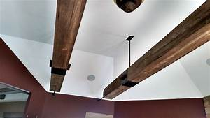 Suspended Railroad Beams Industrial Family Room