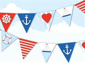 anchor baby shower ideas printable nautical bunting sailor navy by paperscissorspop