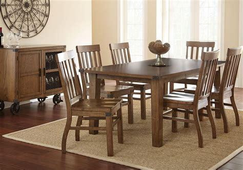 hailee antique oak extendable rectangular dining room set