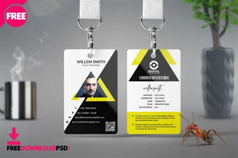 office id cards design  psd freedownloadpsdcom