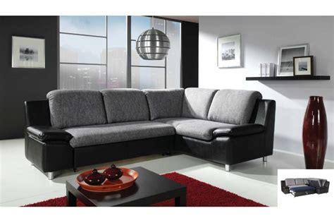 canape cuir et tissus design canapé d 39 angle convertible renato tissu et cuir pu