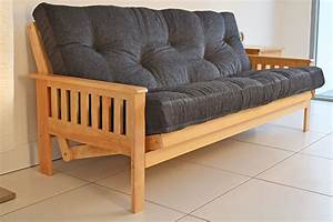 Wooden frame futon sofa bed modern futon bed frame and for Wooden frame futon sofa bed