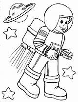 Astronaut Coloring Pages Preschool Astronauts Space Printable Books Sheets Moon Craft Cool sketch template